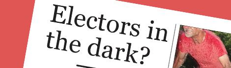 Electors inthe dark?