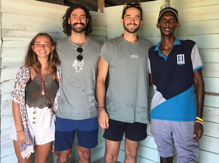 "Alannah and Luke Hussey, Pele Liascos and Xavier De Faria got caught up in Sri Lanka's terror attacks this week, a situation they described as ""nightmarish"". Photo supplied"